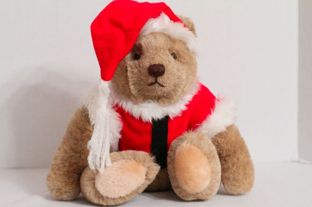 Gund bialosky santa claus quot jointed teddy bear