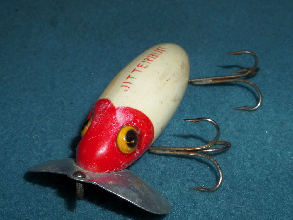 Fishing lure jitterbug fred arbogast no pat number item for Jitterbug fishing lure