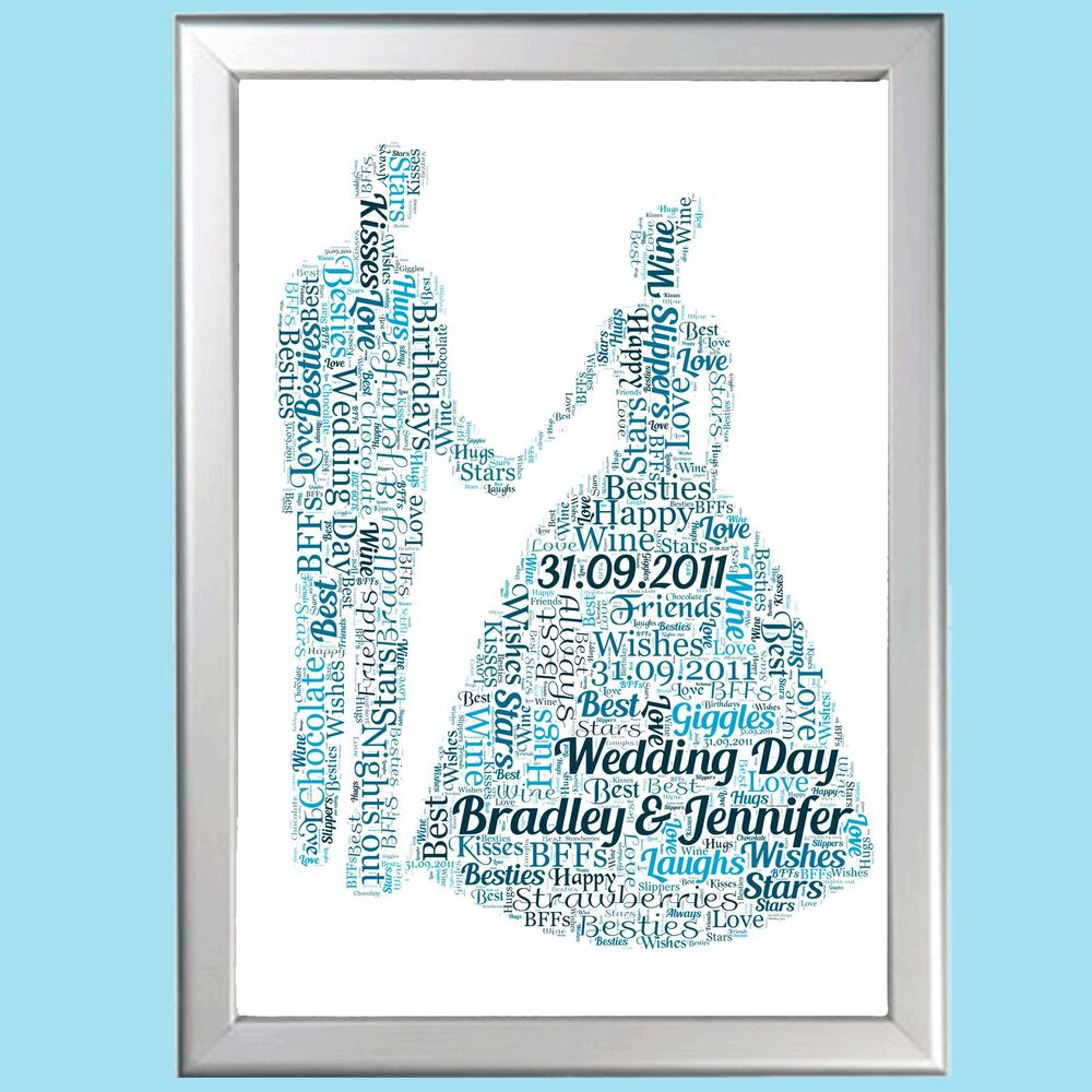 Paper Wedding Anniversary Gift Ideas Uk : ... PERSONALISED FIRST 1st WEDDING ANNIVERSARY GIFTPAPER GIFTeBay
