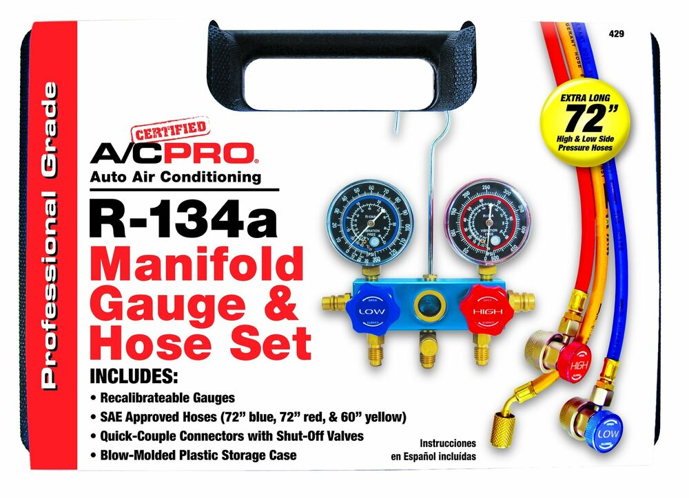 Certified a c pro r professional manifold gauge and