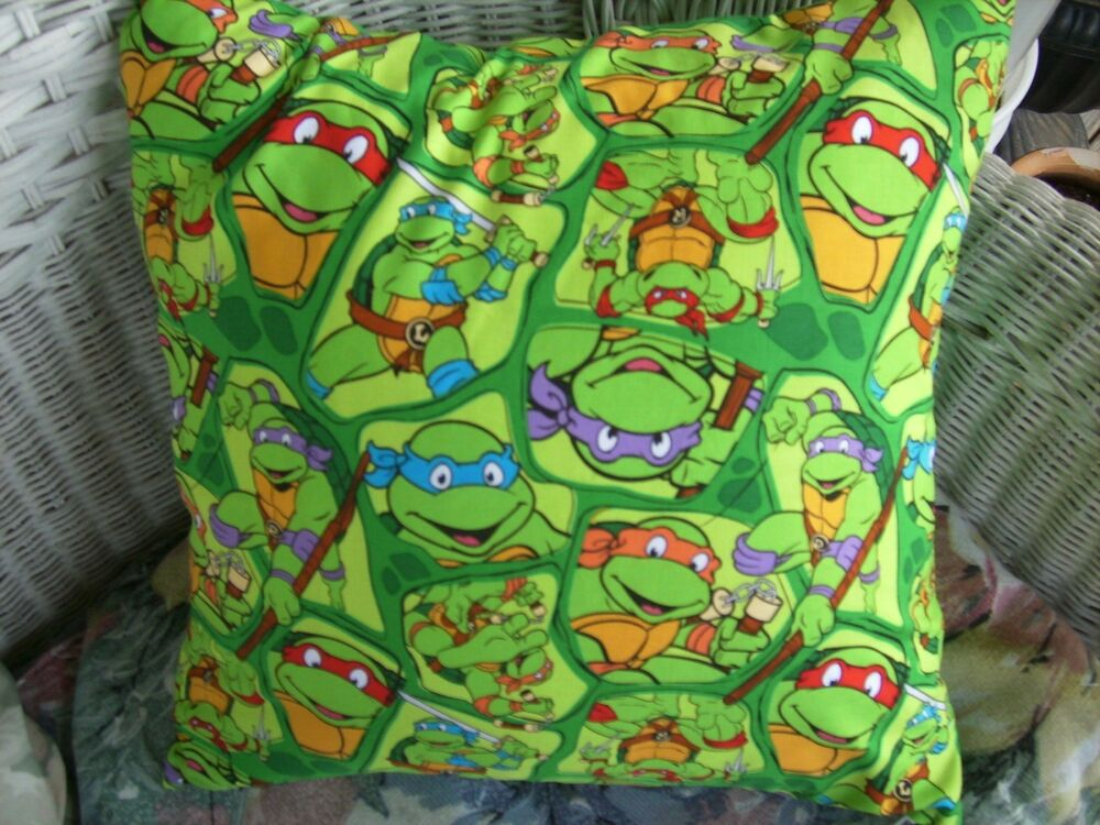 Ninja Turtle Decorative Pillow : Accent throw pillow COVER Teenage Mutant Ninja Turtles eBay