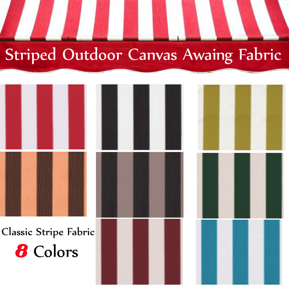 Awning Fabric By The Yard : Canvas awning fabric striped outdoor quot wide