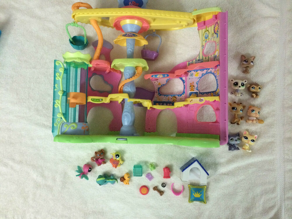 Lps Littlest Pet Shop Store With Animals Toy Lot Used Ebay