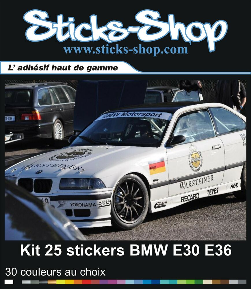 kit 25 stickers warsteiner bmw m3 e30 e36 motorsport gtr. Black Bedroom Furniture Sets. Home Design Ideas