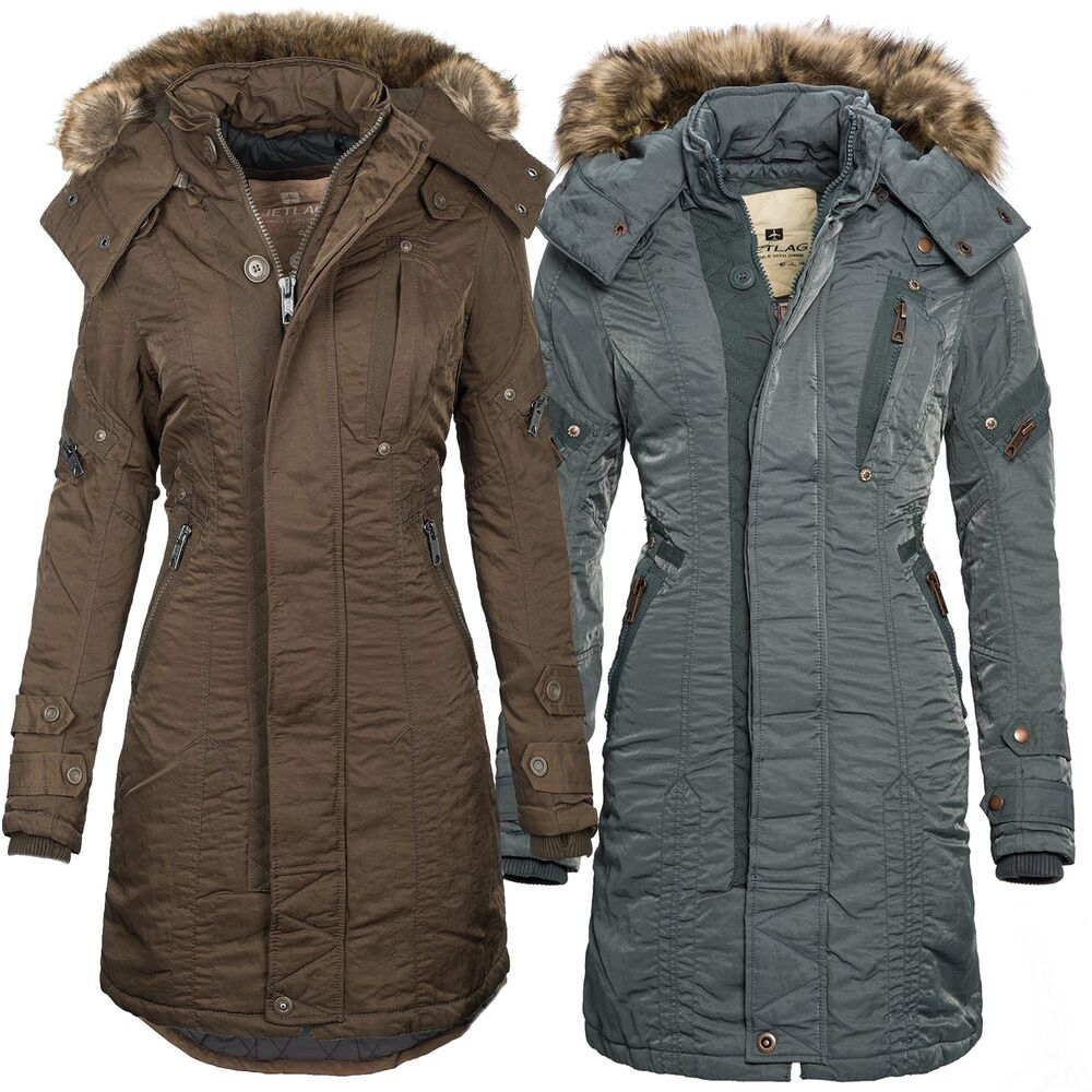 jetlag damen winter mantel lange warme jacke parka winterjacke sw61a neu b59 ebay. Black Bedroom Furniture Sets. Home Design Ideas