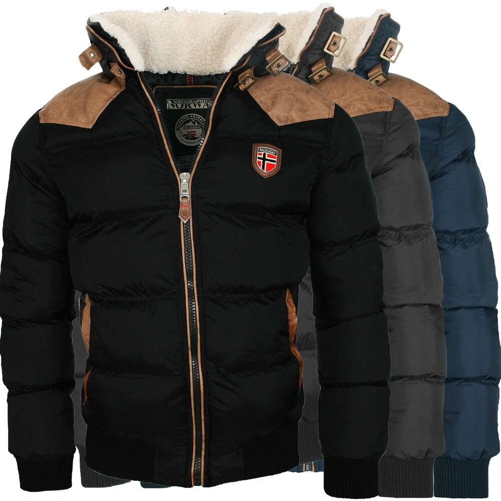 geographical norway warme designer herren winter stepp jacke winterjacke neu ebay. Black Bedroom Furniture Sets. Home Design Ideas
