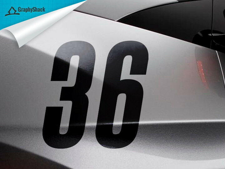 Racing number 4pcs black 6 custom car decal window decal for Window number