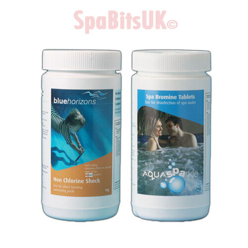 Bromine tablets non chlorine shock bundle water treatment spa chemical hot tub ebay for Chlorine or bromine for swimming pools