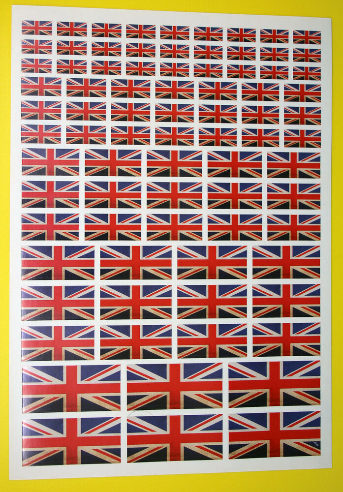 RC 'Vintage worn effect' UNION JACK stickers decals, RC ...