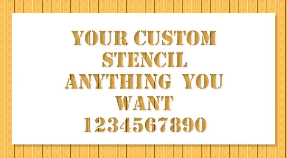 ... Anything You Need Letters Numbers Logo Personalized Laser Cut | eBay