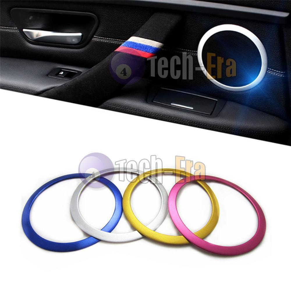 4pcs Aluminium Speaker Trim Ring For Bmw 3 Serise F30 F35 Motorsport Interior Ebay