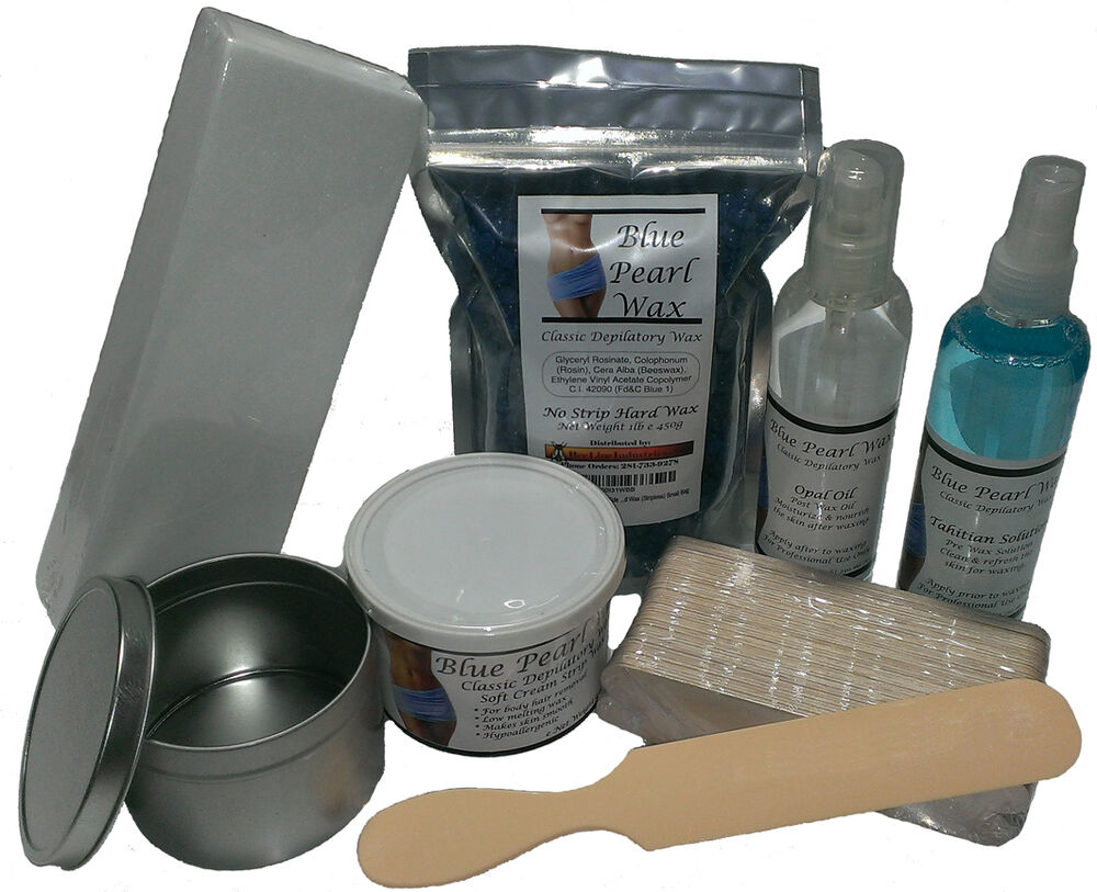 blue pearl wax base waxing kit ebay. Black Bedroom Furniture Sets. Home Design Ideas