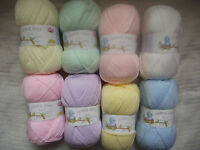 JAMES C BRETT SUPERSOFT BABY DK WOOL - Choice of colours and size 200g/500g