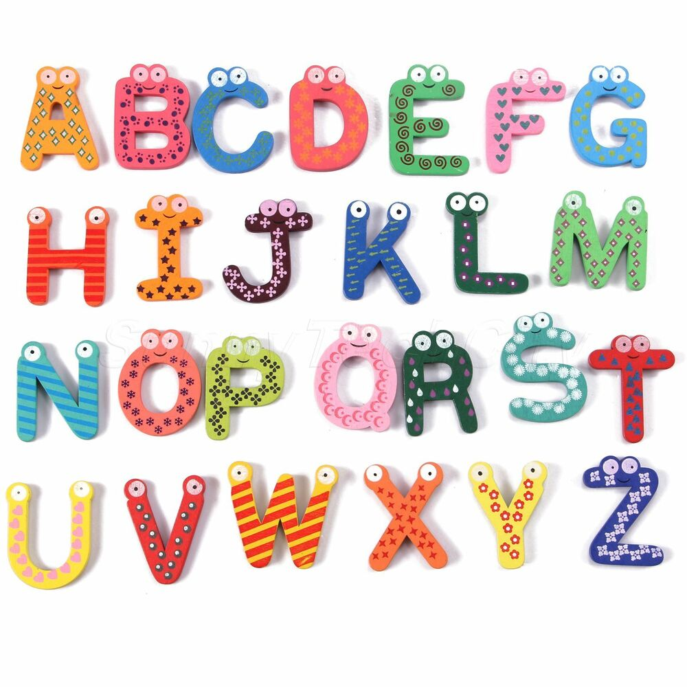 Alphabet Learning Toys : Pcs wooden letters alphabet learning baby kids