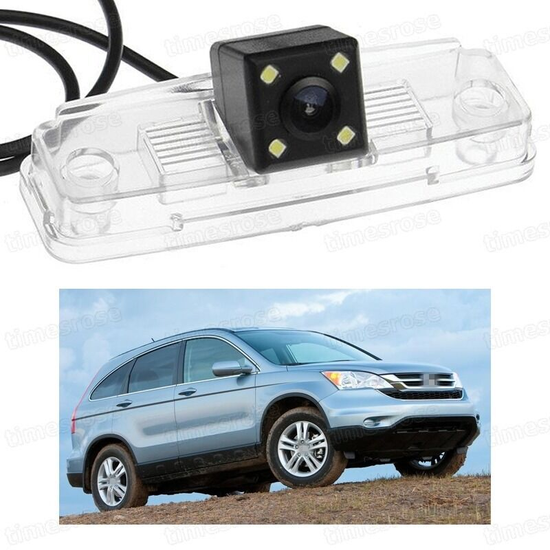 4 Led Car Rear View Camera Reverse Backup Ccd For Honda