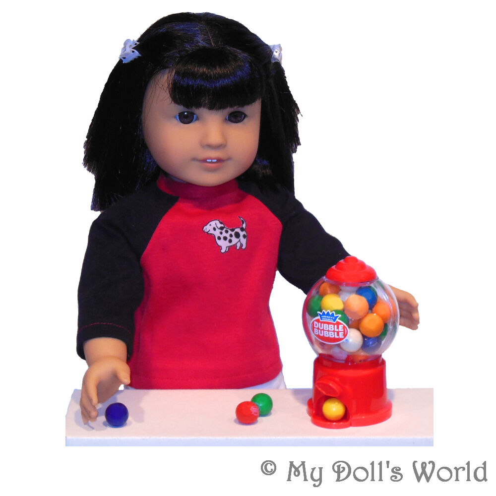 gumball machine real gumballs fits my american girl doll molly emily maryellen ebay. Black Bedroom Furniture Sets. Home Design Ideas