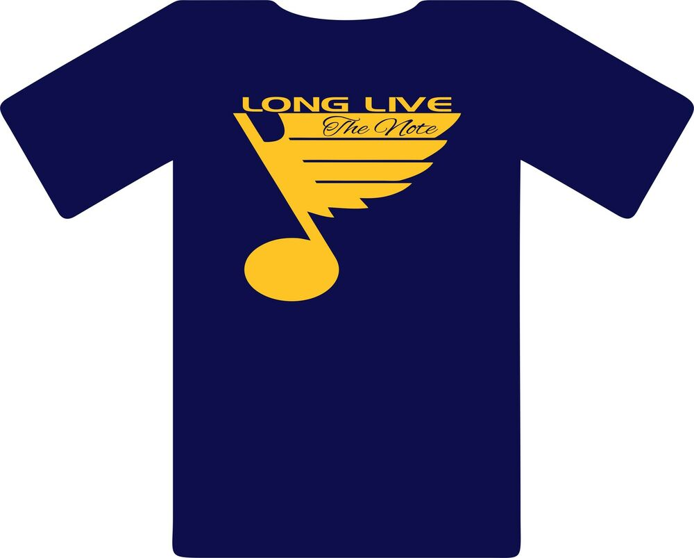St Louis Blues Long Live The Note Hockey T Shirt Tee Nhl
