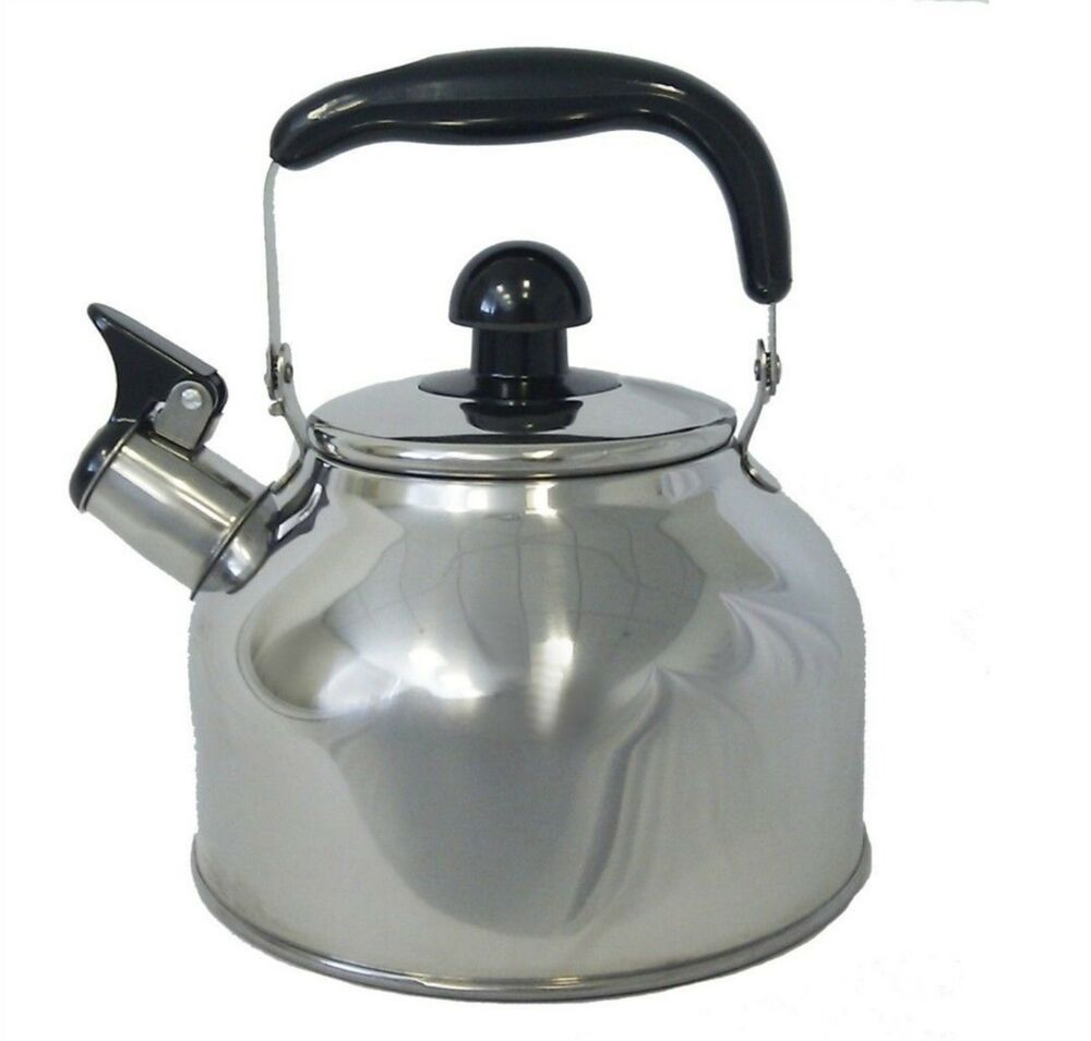 Whistling Tea Kettle ~ Stainless steel large liter quart whistling tea kettle