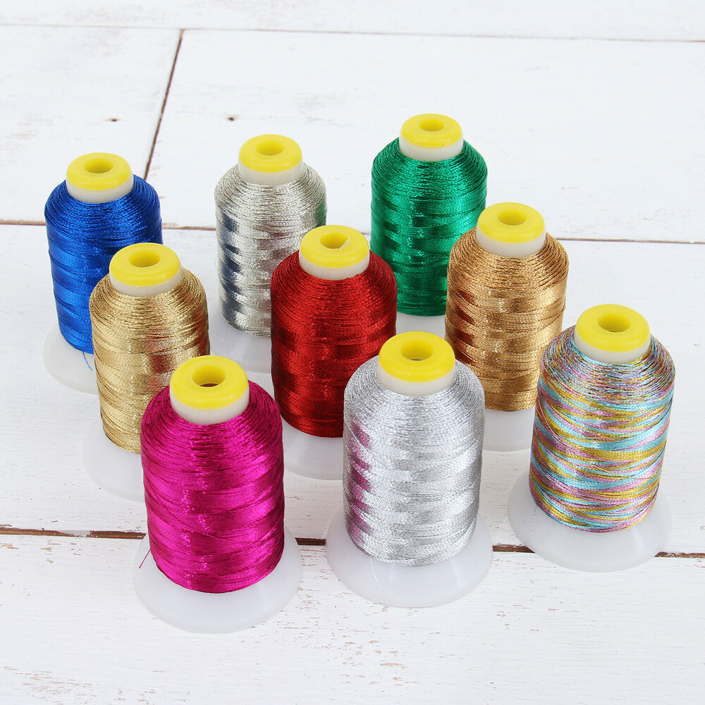 Metallic embroidery thread m wt fits brother
