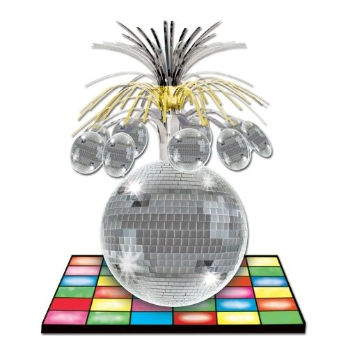33 cm disco ball centrepiece 70 39 s party table. Black Bedroom Furniture Sets. Home Design Ideas