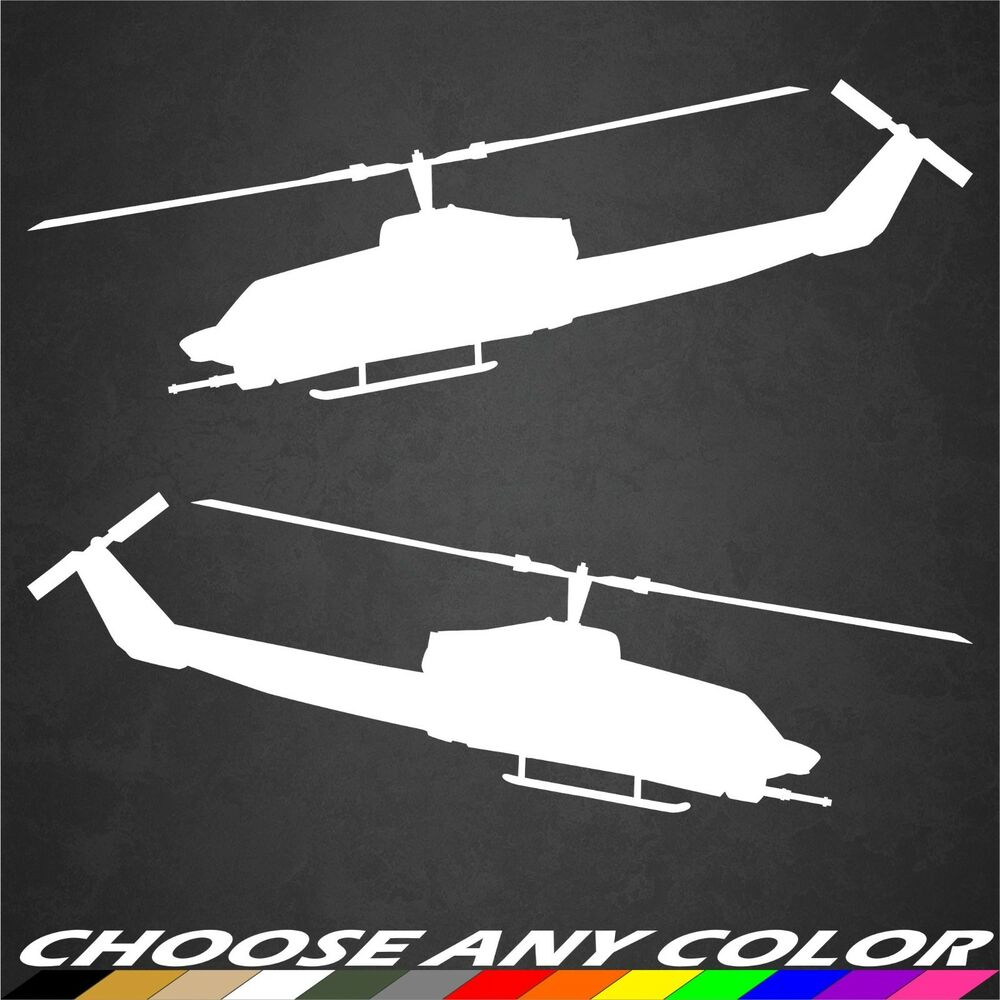 2 Us Army Ah 1 Cobra Helicopter Stickers Military Graphics