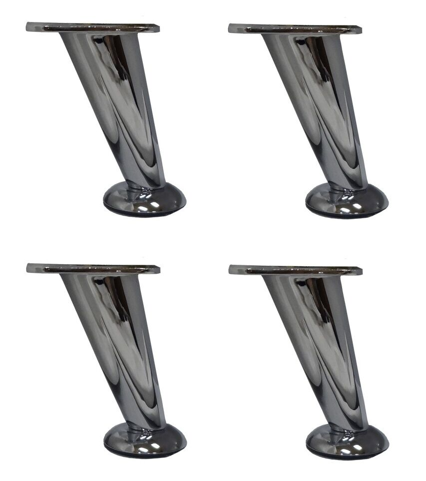 5 Quot Metal Chrome Furniture Sofa Table Chair Legs Set Of 4