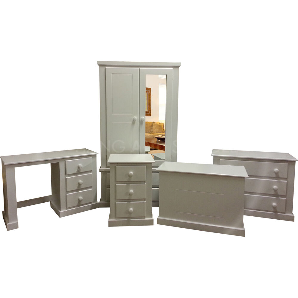 hand made dewsbury furniture 5 piece bedroom set white assembled