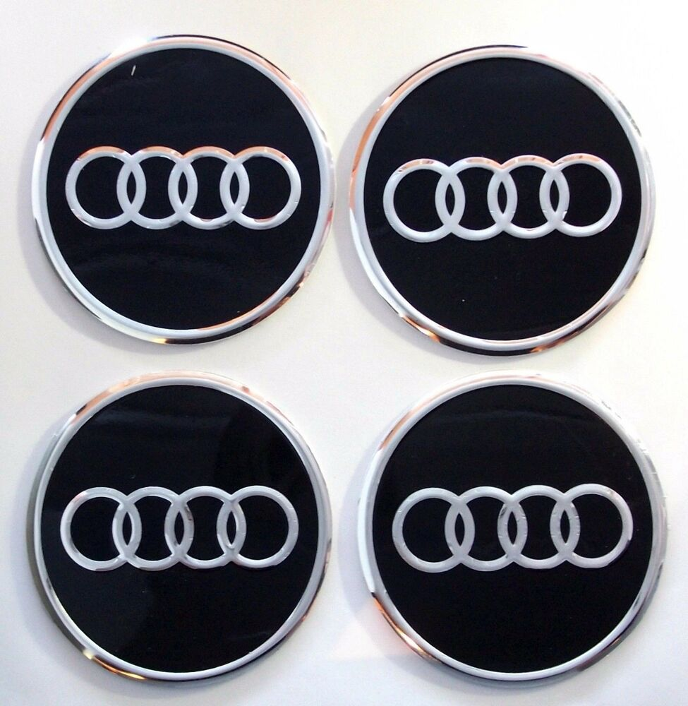 4 audi 60mm felgenaufkleber auto emblem logo nabenkappen. Black Bedroom Furniture Sets. Home Design Ideas