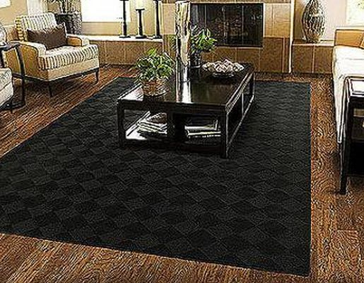 black living room rugs 5 x 7 area rug modern black carpet stain resistant living 13553