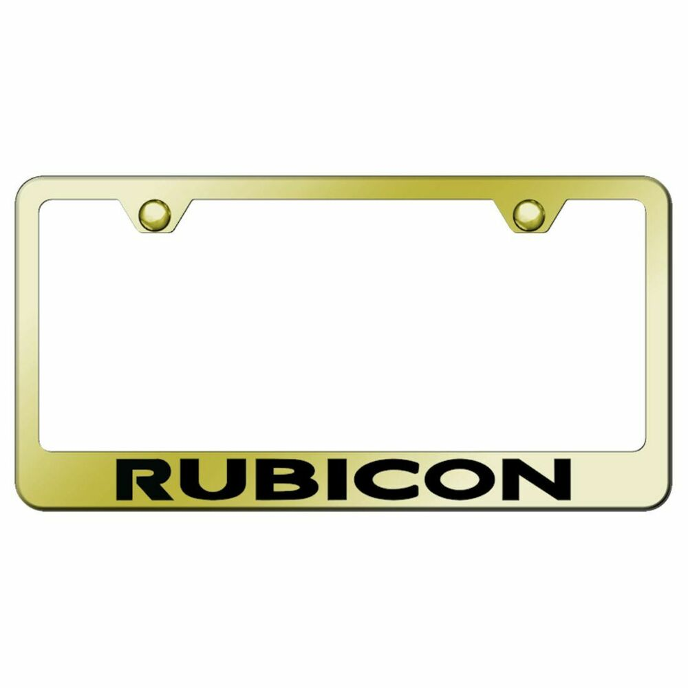jeep rubicon gold license plate frame laser etched genuine ebay. Cars Review. Best American Auto & Cars Review