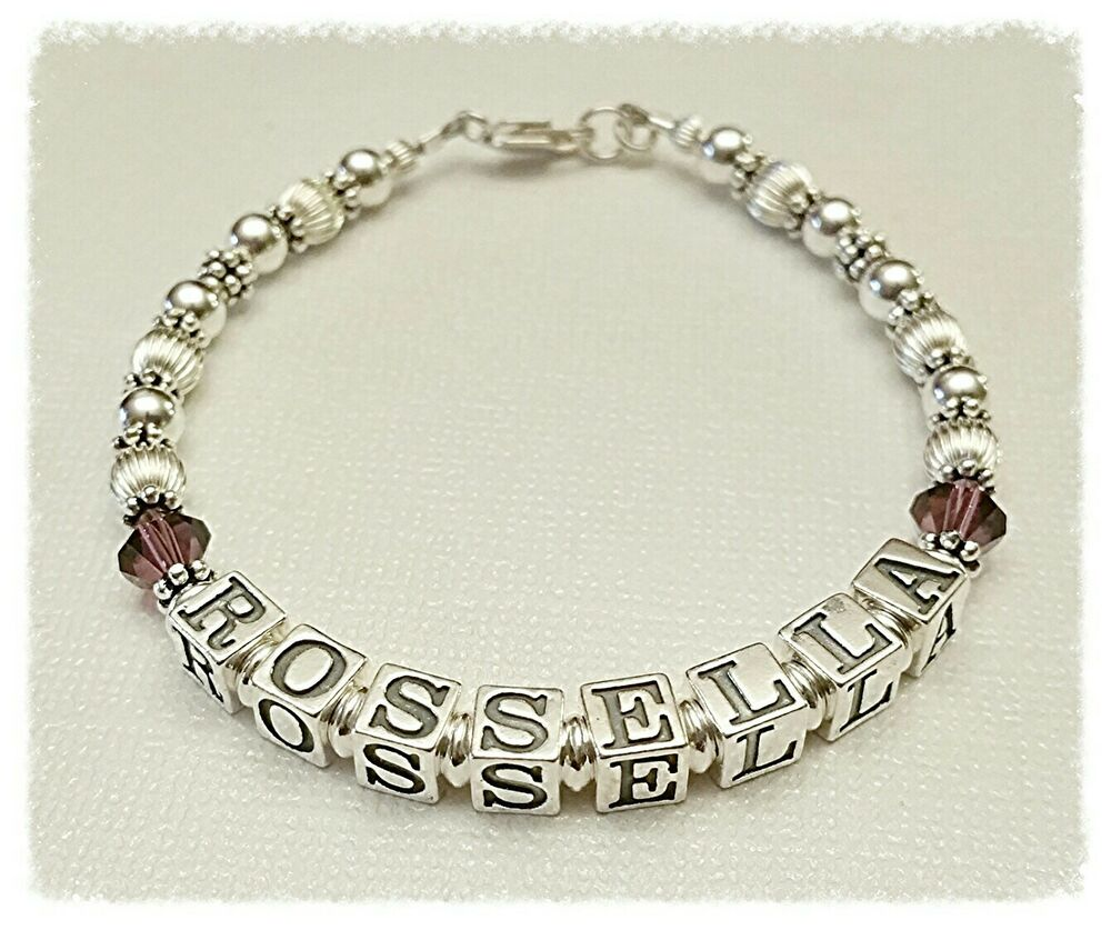 personalized s name bracelet sterling silver