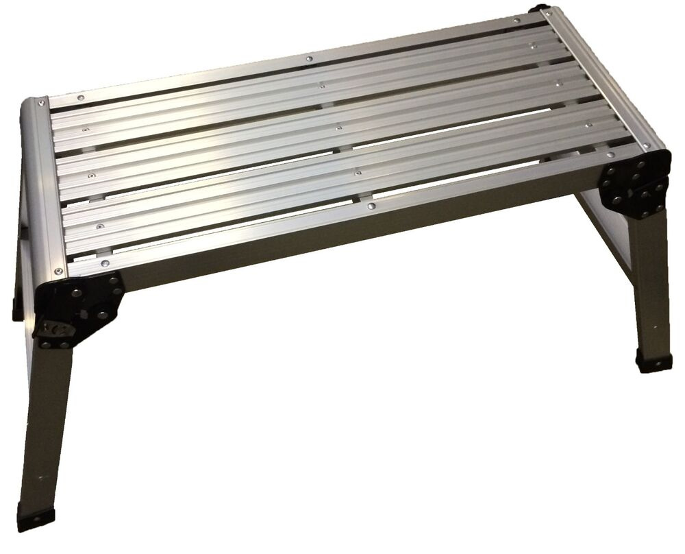 Large Aluminium Folding Platform Step Work Bench 115kg