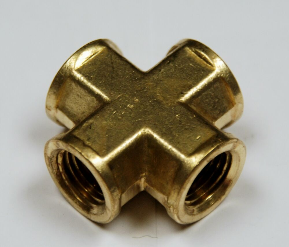 Brass fittings cross forged female pipe size
