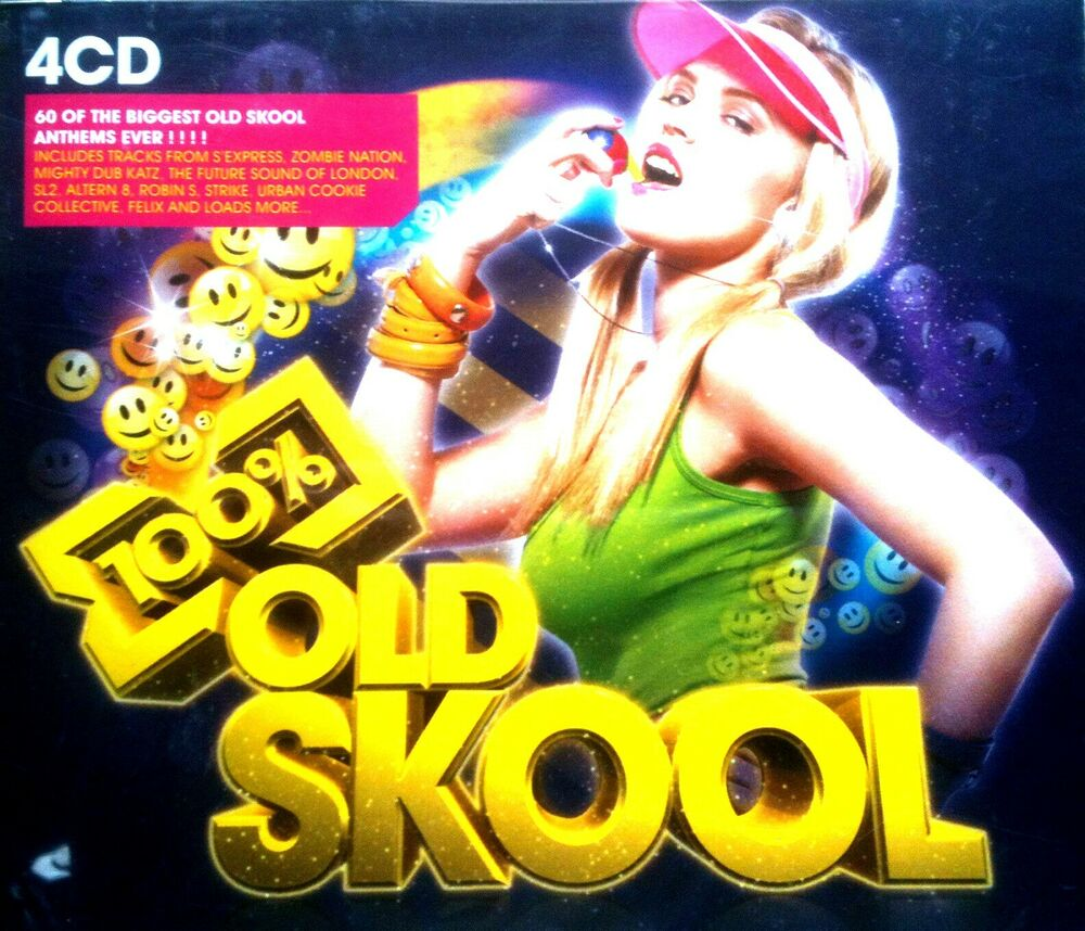 100 oldskool 4 x cds 60 unmixed tracks oldskool rave for Best 90s house tracks