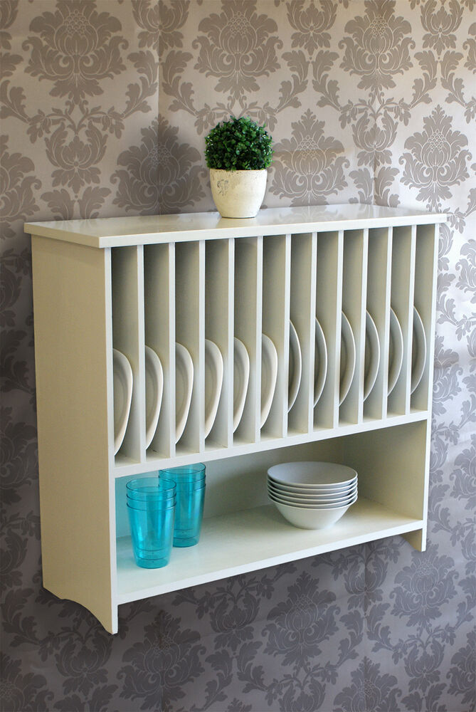 Wall Mounted Painted Plate Rack