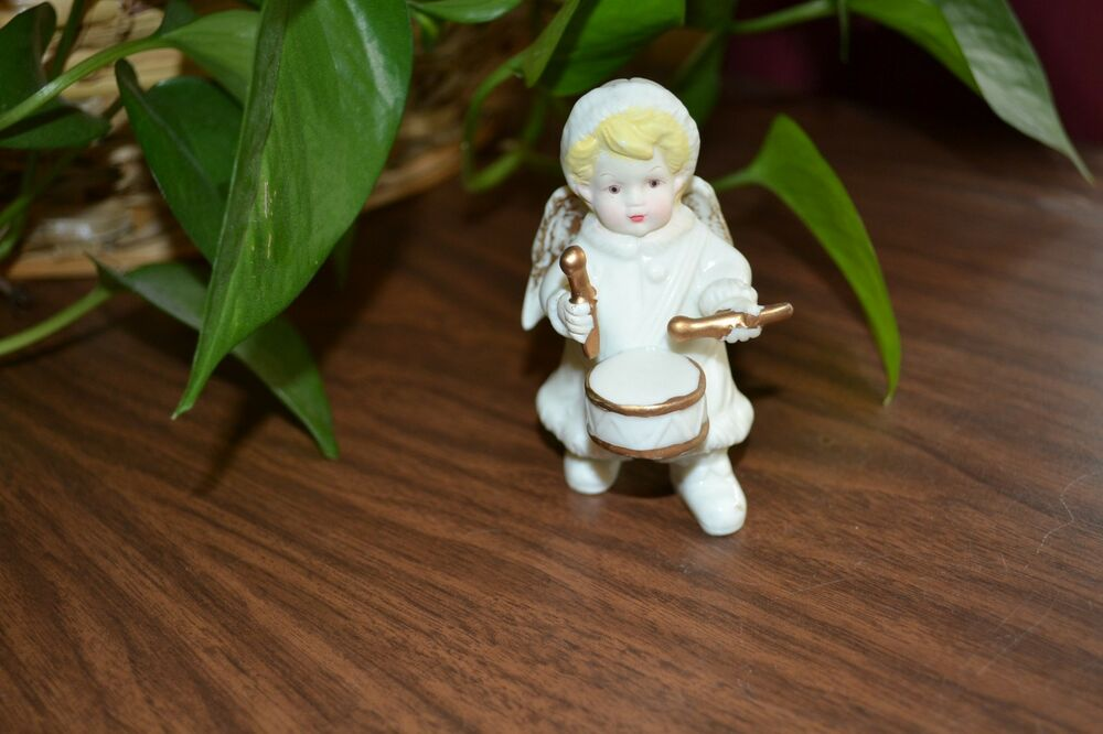 Porcelain Angel With Drum