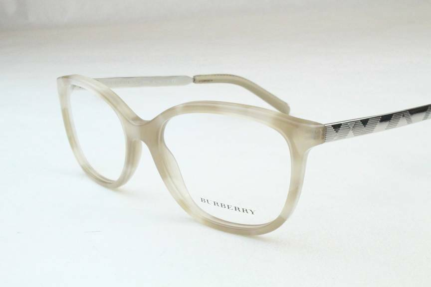 New Burberry Eyeglass Frames : New Burberry BE 2148-Q Eyeglasses Frames Beige Silver 3427 ...