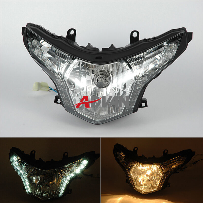 Emark Led Front Head Light Headlight Assembly H4 For Honda