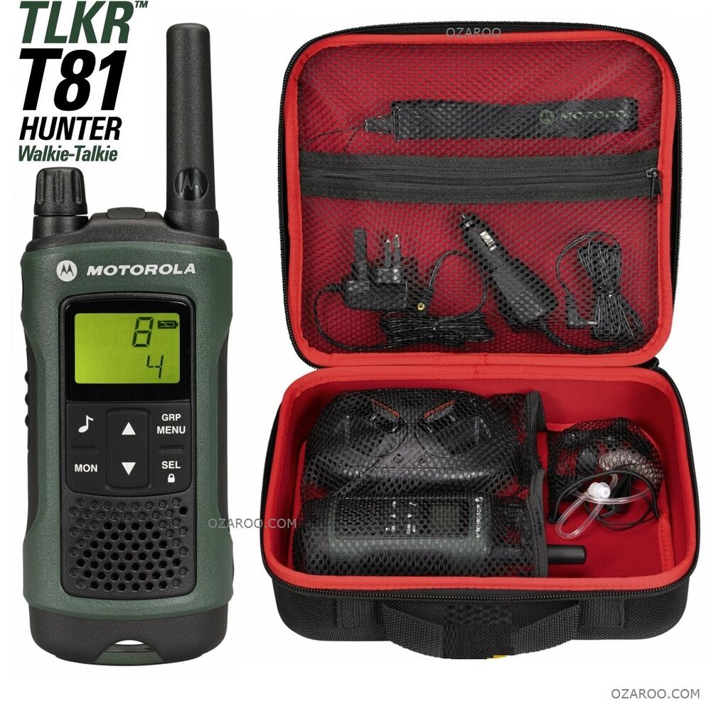 motorola talker tlkr t81 hunter 10km walkie talkie with. Black Bedroom Furniture Sets. Home Design Ideas