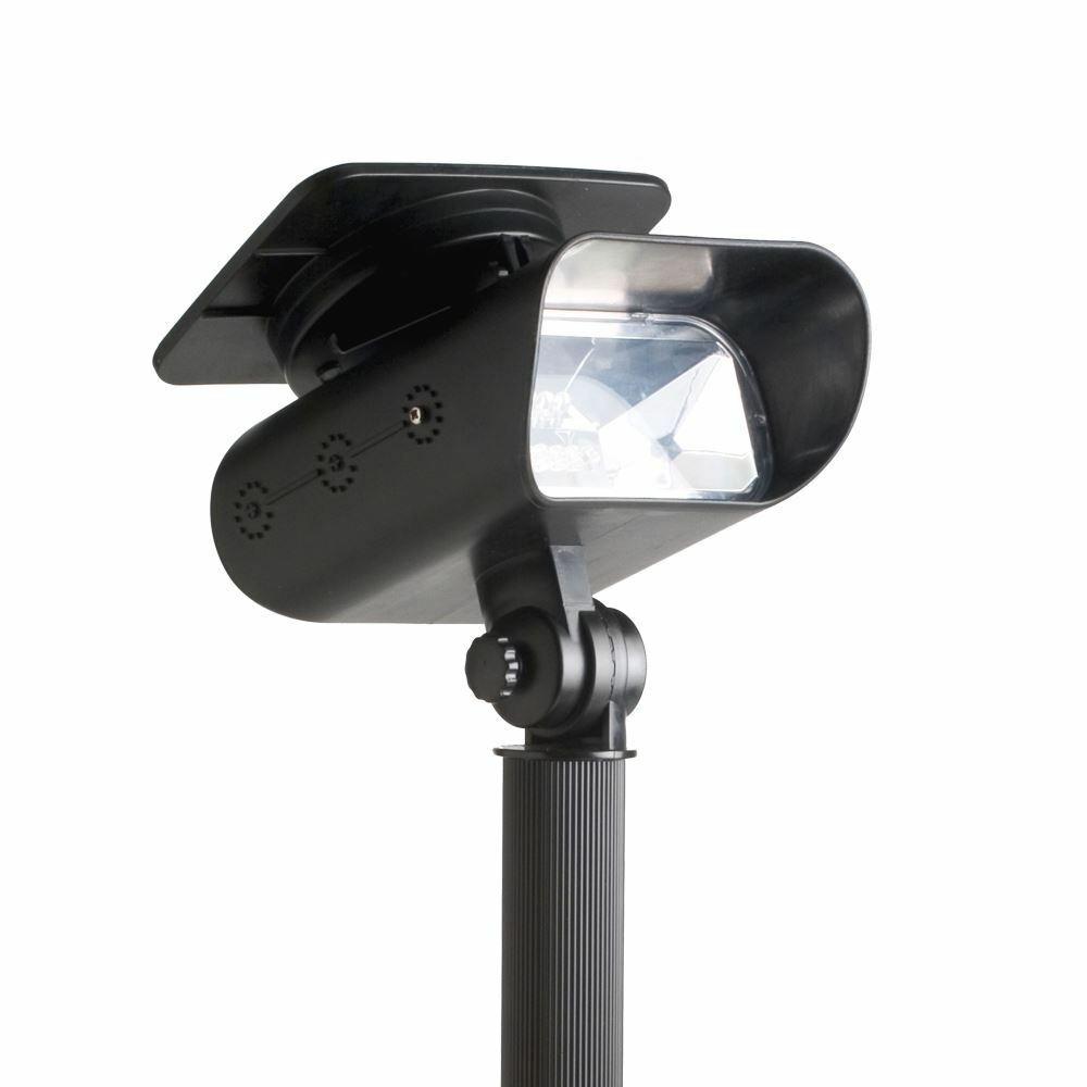 Solar Lights On Wall : Quality Solar Powered Garden LED Spotlight Spot Light Deck Wall Stake Mounting eBay