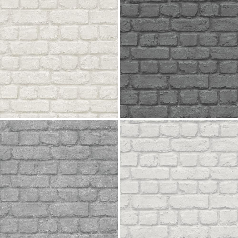 NEW RASCH BRICK STONE WALL REALISTIC FAUX EFFECT TEXTURED ...