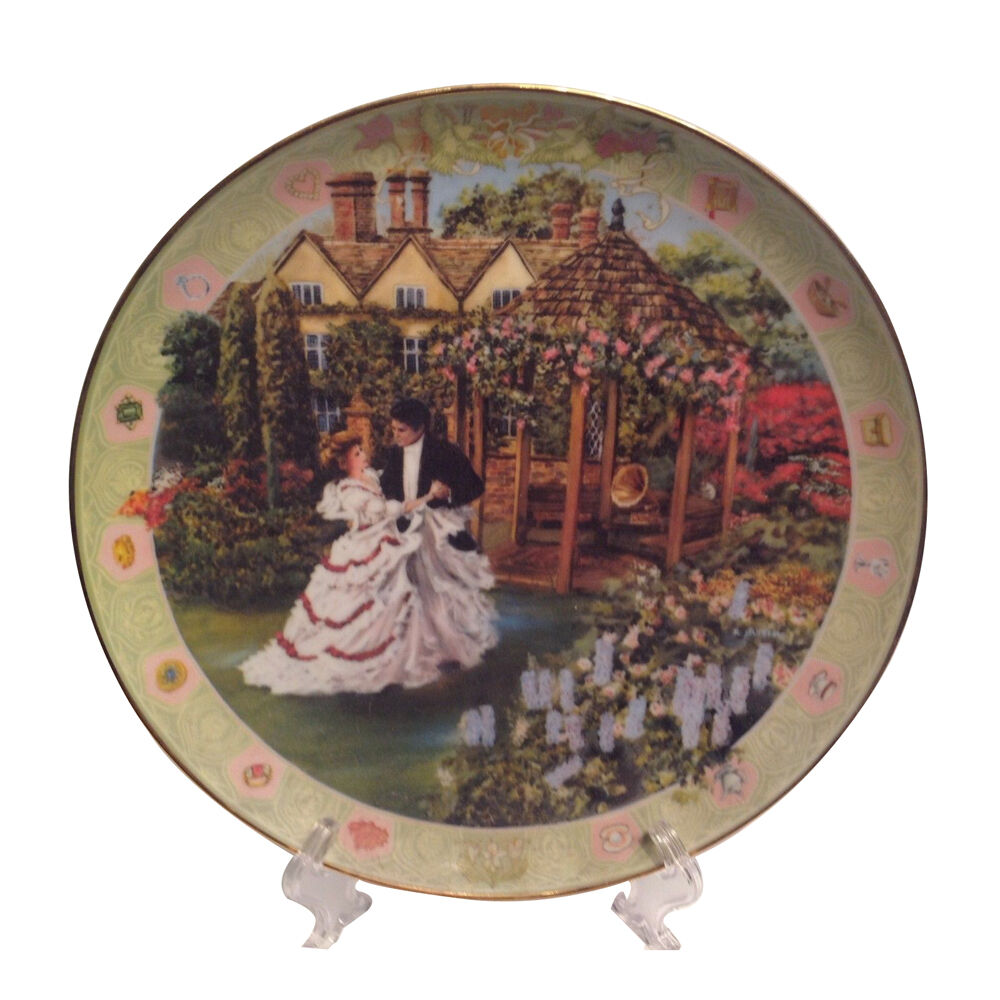 THE ANNIVERSARY Decorative Plate By Rob Sauber With Wooden
