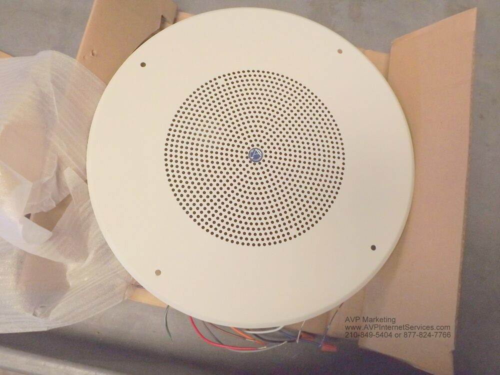 Atlas Sound Sd72w Dual Cone Ceiling Speaker With Baffle