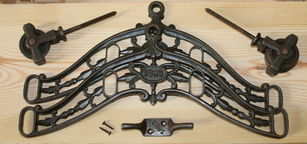 Victorian Cast Iron Clothes Dryer Traditional Airer Ebay