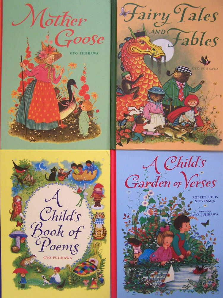 Mother Goose Garden Verse Book Poems Fairy Tales Fables Gyo Fujikawa 4bks New 1402750641 Ebay