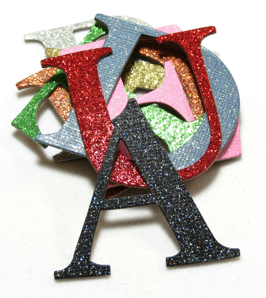 4quot custom glitter chipboard alphabet letters numbers 30 for Glitter cardboard letters