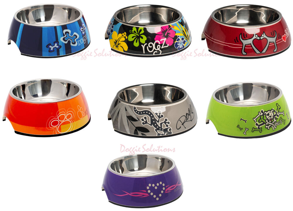 Rogz 2 In 1 Bubble Bowl Dog Bowls For Food And Water Ebay