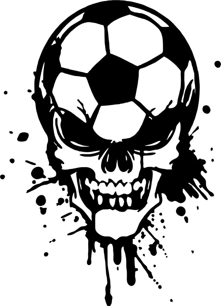 Soccer Skull Sports Game Football Car Truck Window Laptop Vinyl - Soccer custom vinyl decals for car windows