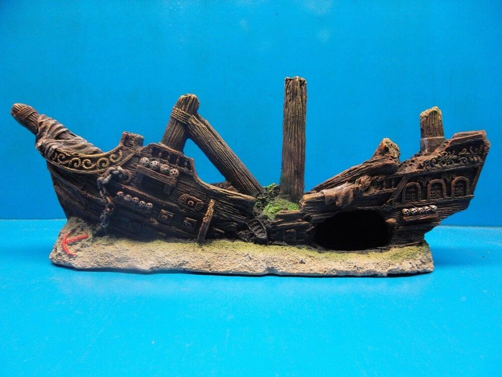 Sunken pirate ship wreck ws081 aquarium resin fish tank for Aquarium decoration ship