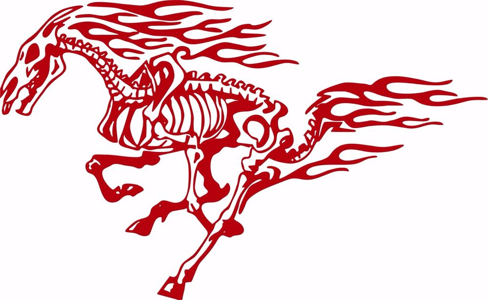 Tribal horse decal